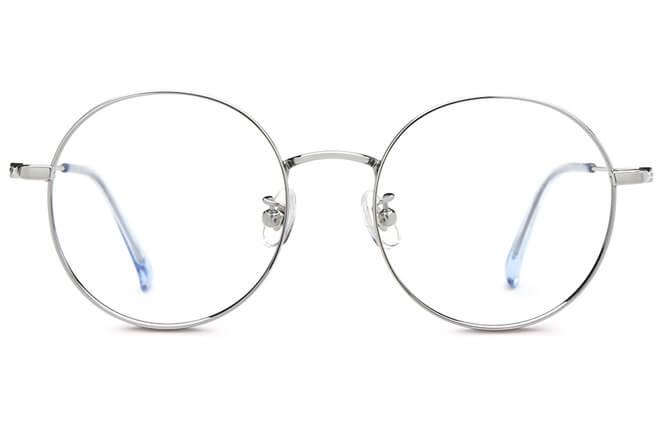 Viola Titanium Round Eyeglasses