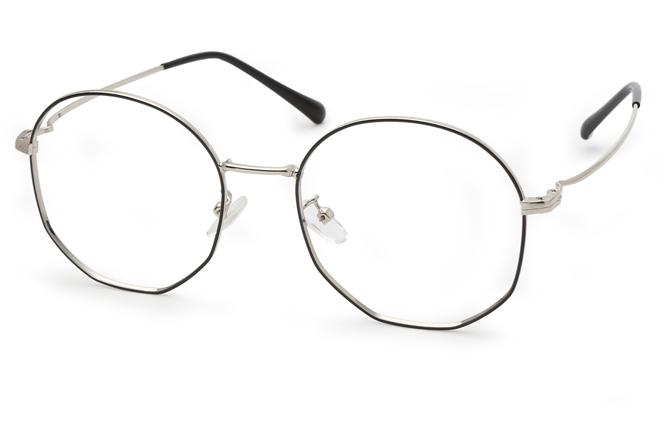 Galina Round Eyeglasses, Black