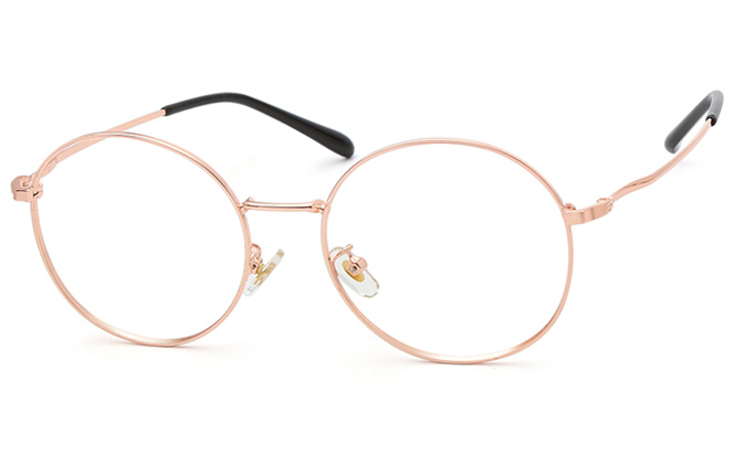 Jennifer Round Eyeglasses, Black;silver;rosegold