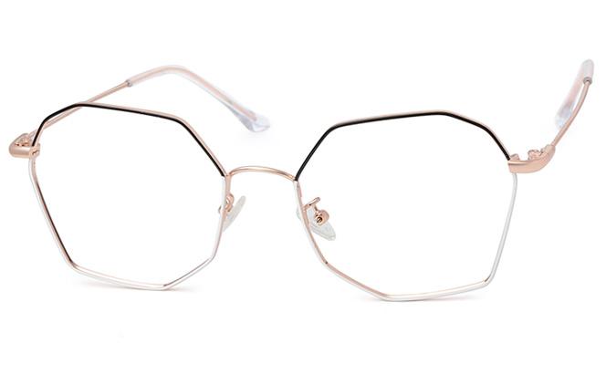Marjorie Polygon Eyeglasses, Gold