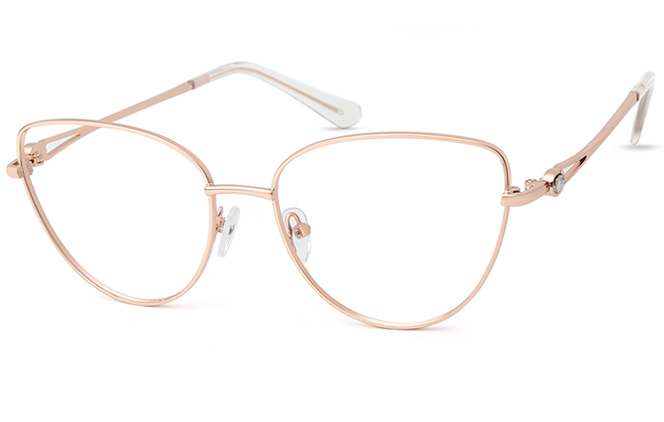 Lorraine Cateye Eyeglasses, Gold