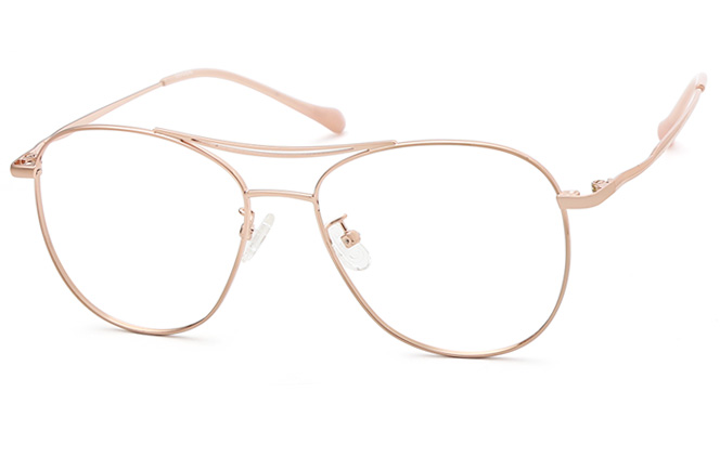 Cathine Aviator Eyeglasses, Rosegold