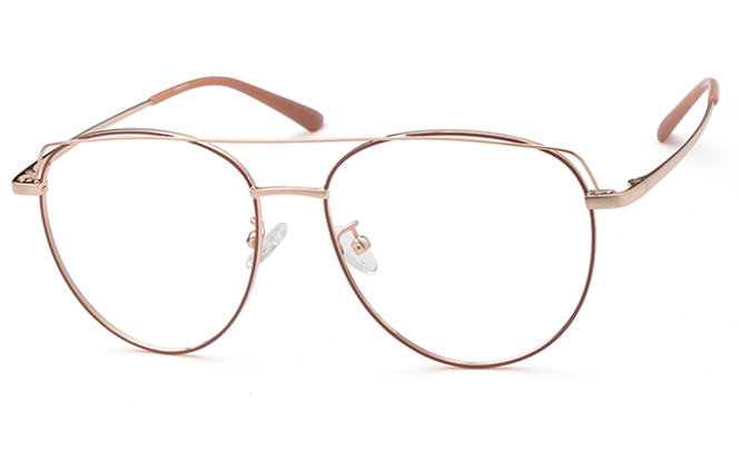 Mango Oval Eyeglasses, Rose gold