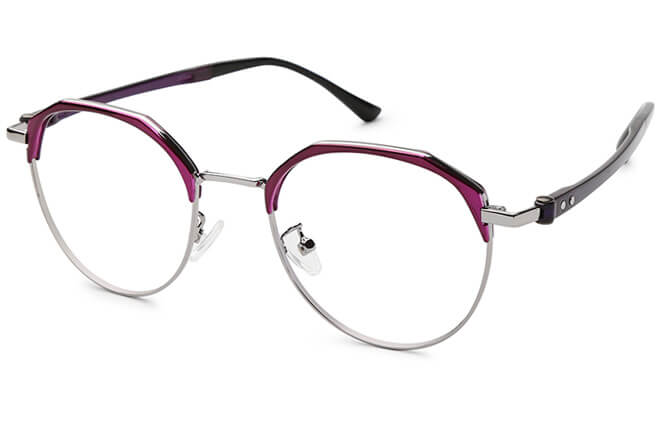 Buy Wanda Browline Round Eyeglasses