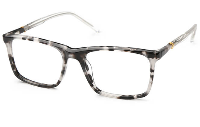 Amos Rectangle Spring Hinge Eyeglasses, Tortoiseshell;blue;other