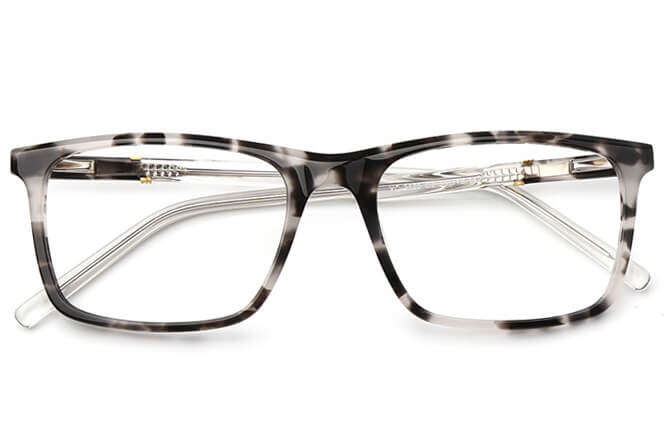 Amos Rectangle Spring Hinge Eyeglasses
