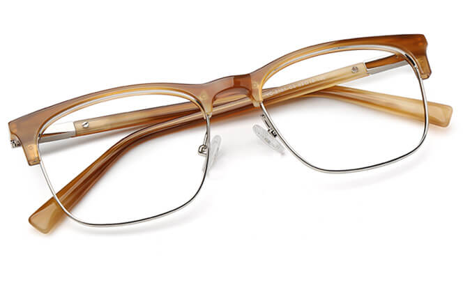 Alva Browline Metal Eyeglasses
