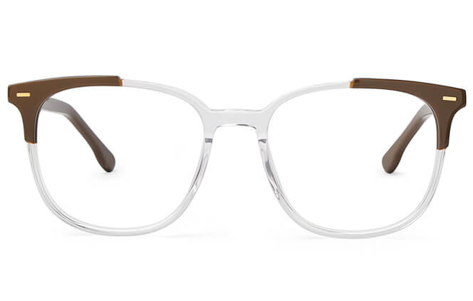 Armand Rectangle Spring Hinge Eyeglasses