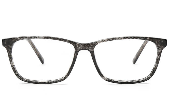 Norma Rectangle Spring Hinge Eyeglasses