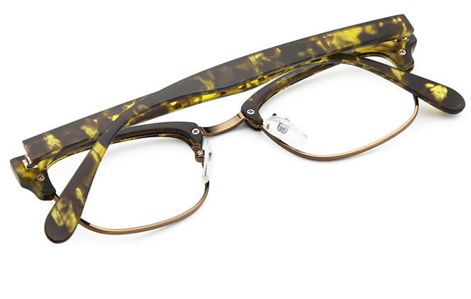 Waleska Browline Rectangle Eyeglasses