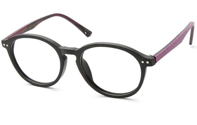 Gehan Round Eyeglasses, Purple