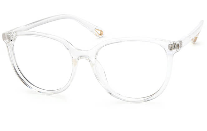 Foteini Rectangle Eyeglasses, Clear
