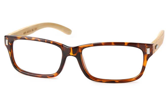Joelle Rectangle Eyeglasses, Tortoiseshell