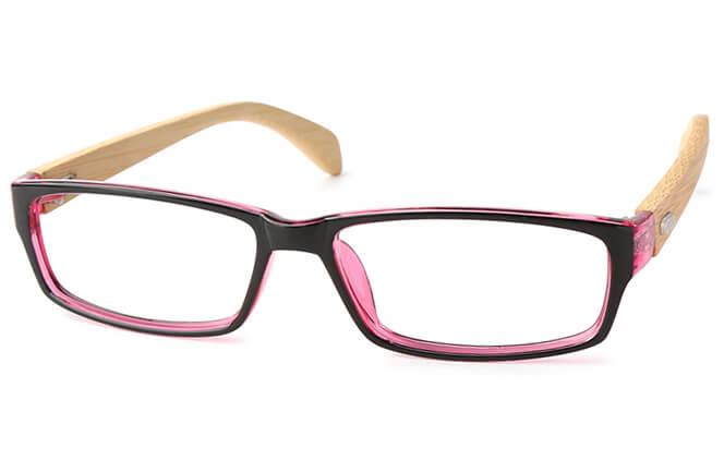 Lisette Rectangle Eyeglasses, Burgundy