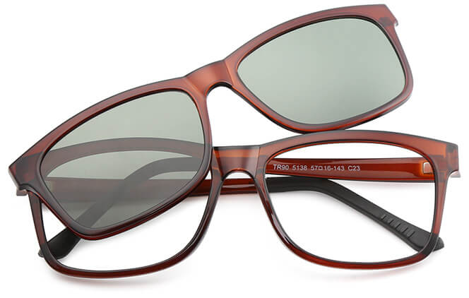 Darianne Rectangle Magnetic Clip-on Glasses