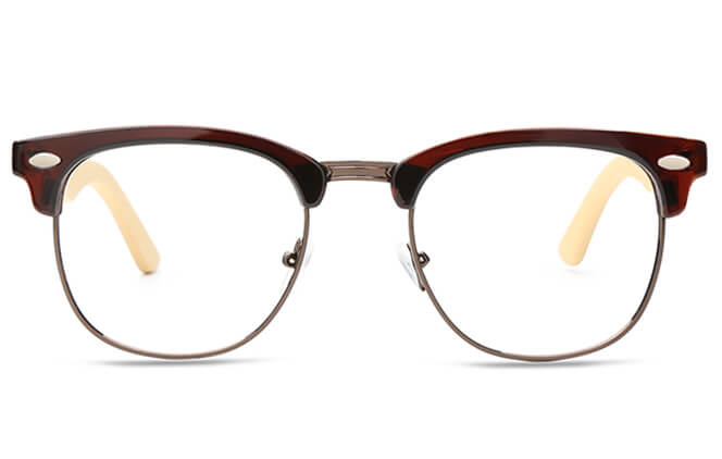 Godbolt Browline Metal Eyeglasses