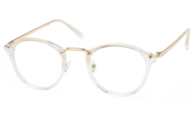 Esther Round Eyeglasses, Clear