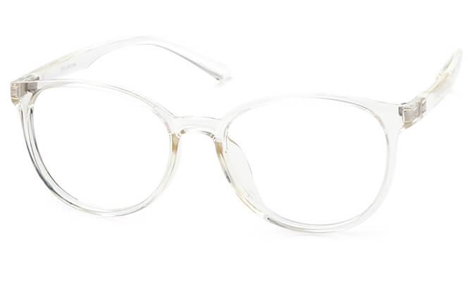 Giovanni Round Eyeglasses, Clear