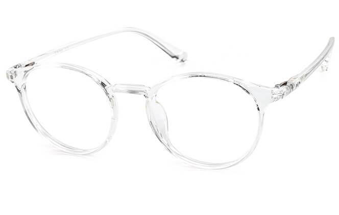 Judiber Round Eyeglasses, Clear