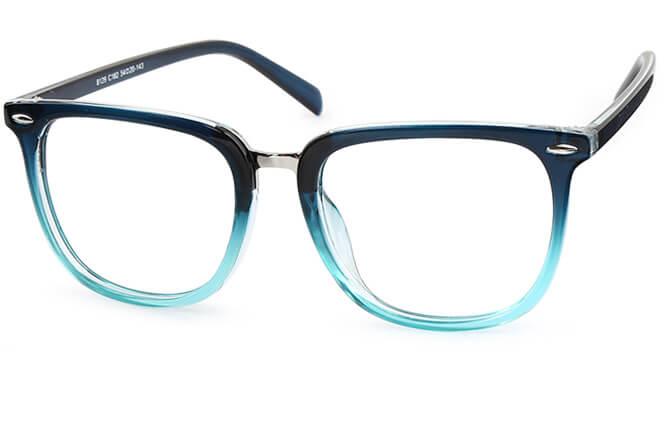 Dorothy Rectangle Eyeglasses, Blue