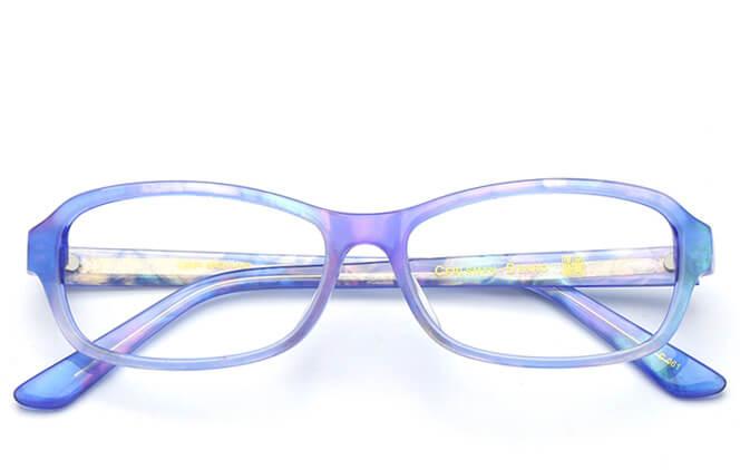 Kandice Oval red/blue Eyeglasses