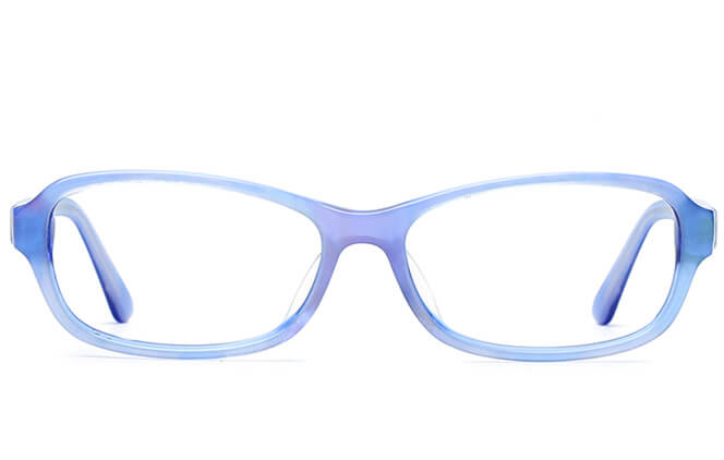 Kandice Oval red/blue Eyeglasses
