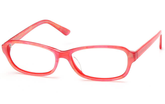 Kandice Oval red/blue Eyeglasses, Blue;red