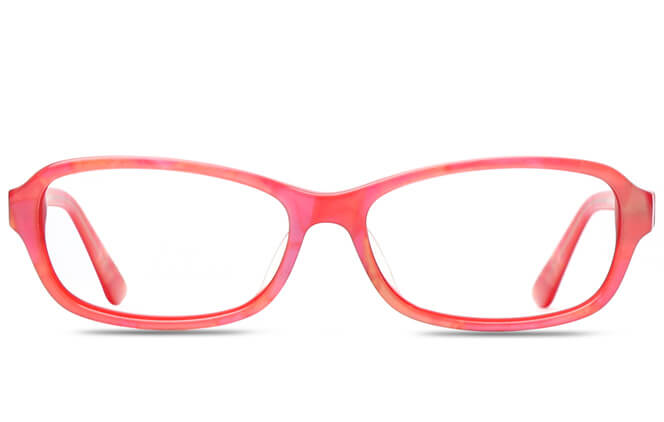 Glasseslit™ Kandice Oval red/blue Eyeglasses