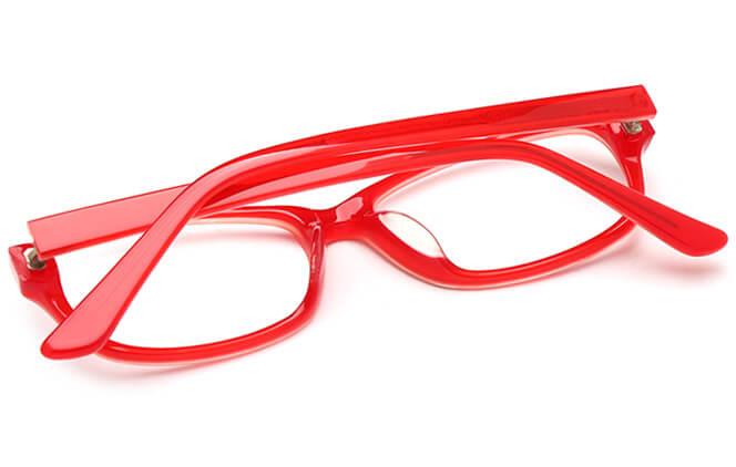 Glasseslit™ Kandice Oval red/blue Eyeglasses
