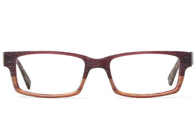 Wallace Rectangle Faux Wood Eyeglasses
