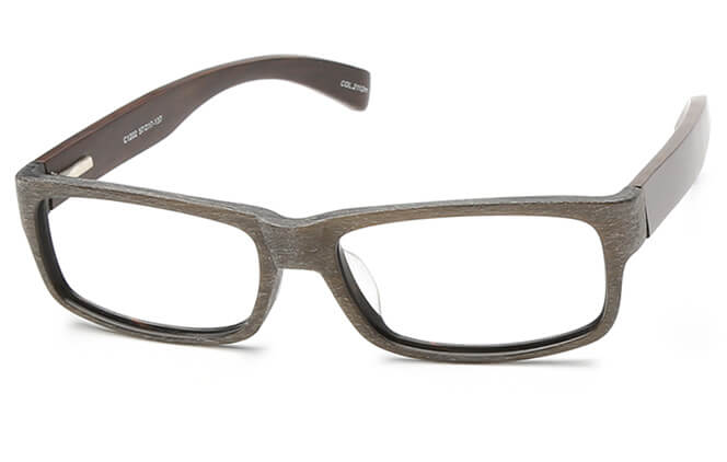 Morelia Spring Hinge Rectangle Eyeglasses, Brown