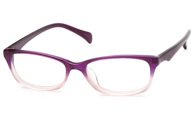 Jezibel Oval Eyeglasses, Purple