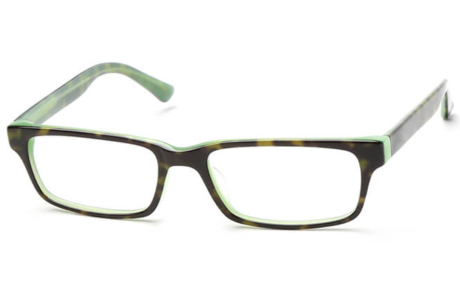 Katryna Rectangle Eyeglasses, Green