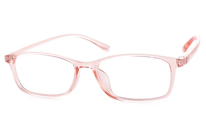Patricia Rectangle Eyeglasses, Pink
