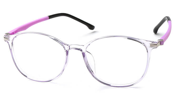 Leona Rectangle Eyeglasses, Purple