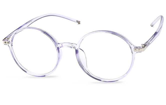 Milla Round Eyeglasses, Purple
