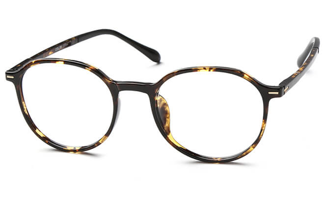 Keanu Round Eyeglasses, Tortoiseshell