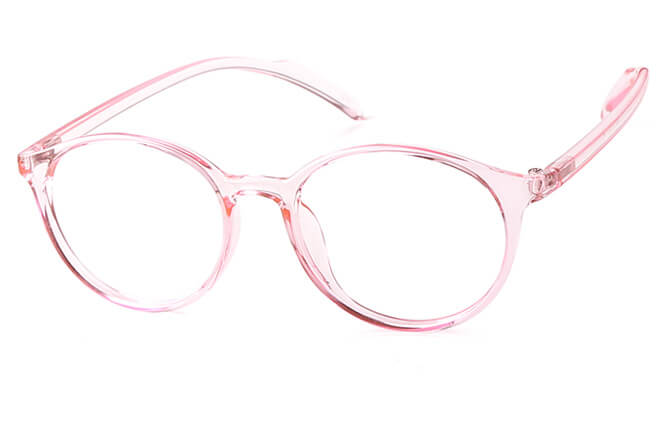 Ingrid Round Eyeglasses, Purple;pink