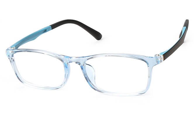 Greta Rectangle Eyeglasses, Blue;purple