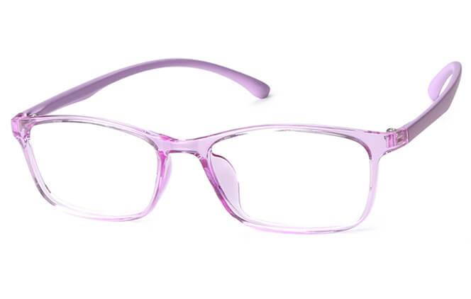 Joan Rectangle Eyeglasses, Black;purple;red
