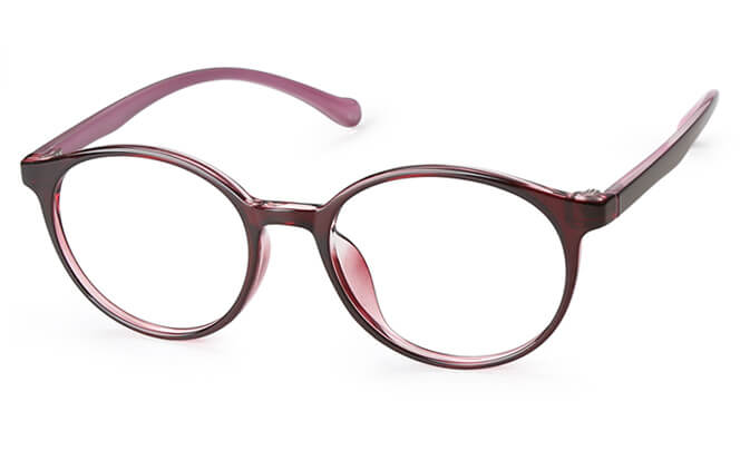 Claudette Round Eyeglasses, Black;red;pink;purple