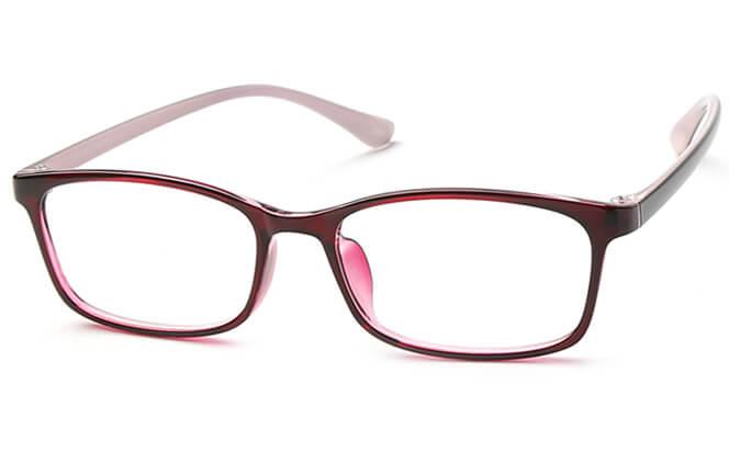 Maika Rectangle Eyeglasses, Red