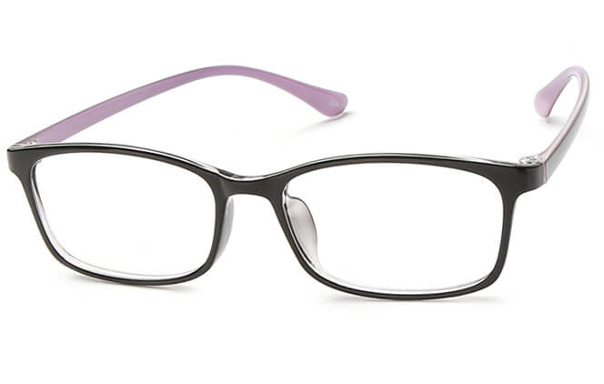 Maika Rectangle Eyeglasses, Blue;black;red;purple
