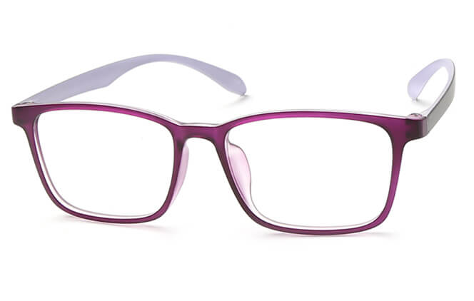 Shantel Rectangle Eyeglasses, Brown;red;purple