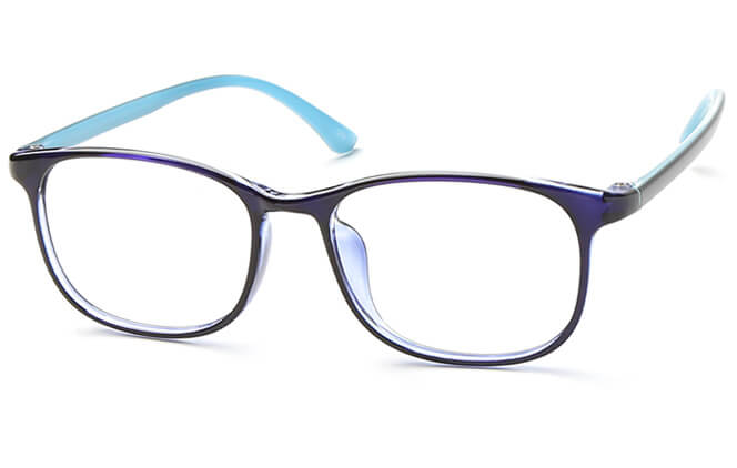 Judith Rectangle Eyeglasses, Blue