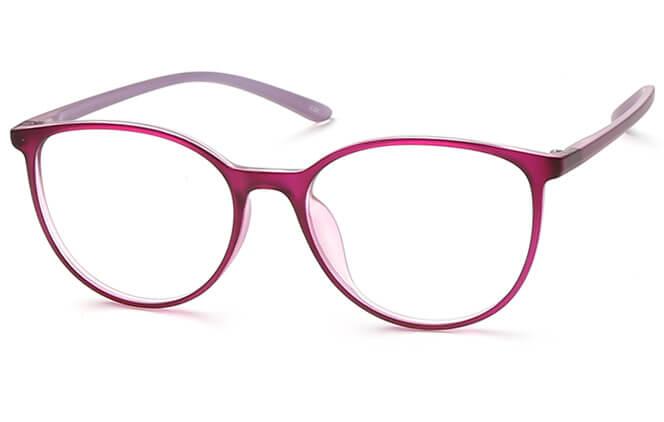 Ksenia Round Eyeglasses, Purple;black