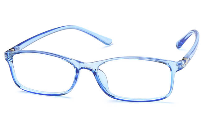 Russell Rectangle Eyeglasses, Blue;champagne