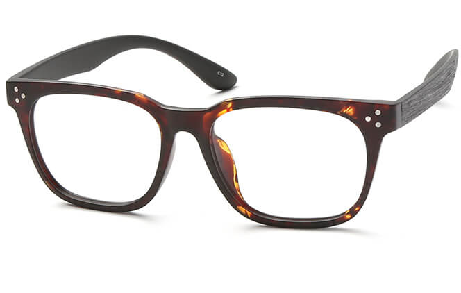 Monte Rectangle Eyeglasses, Black;blue;tortoiseshell