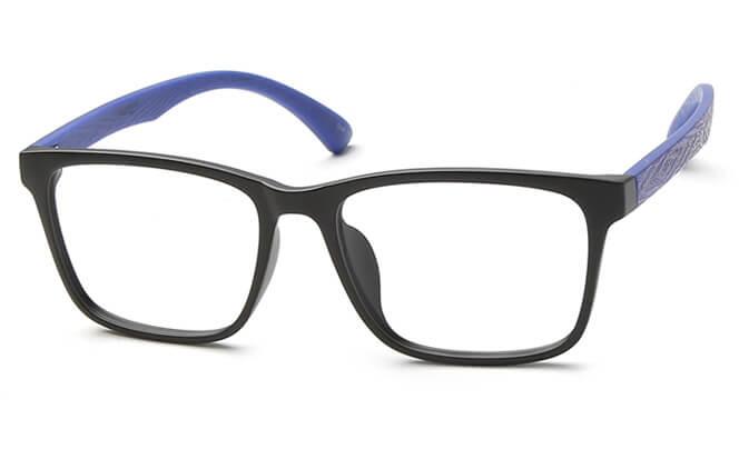 Chevy Rectangle Eyeglasses, Blue