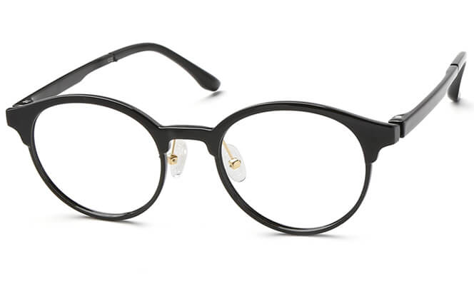 Beyonce Browline Eyeglasses, Black;purple